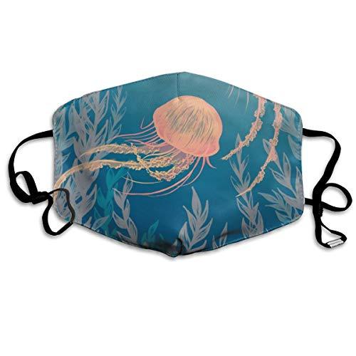 Mond Mask Jellyfish Unisex Polyester Herbruikbare Mond Maskers Winddicht Masker Verstelbare Bandjes Gezichtsmasker Voor Man Meisje Vrouw