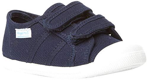 Zapatillas de Lona Para Niños con Puntera Reforzada, Mod.128, Calzado infantil Made In Spain (25, Azul Marino)