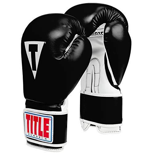 Title Classic Pro Style Training Gloves 3.0, Black/White, 16 oz