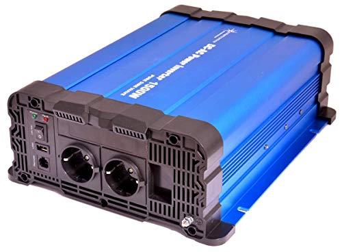 Solartronics Transformador de Tensión FS1500DR 12V 1500/3000 Vatios Simple Sinus Azul No Es un Pantalla