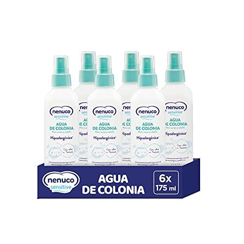 Nenuco Sensitive Pack Agua de Colonia Hipoalergénica Sin Alcohol para Bebé - Adecuado para Cuerpo y Cabello - 6x175ml