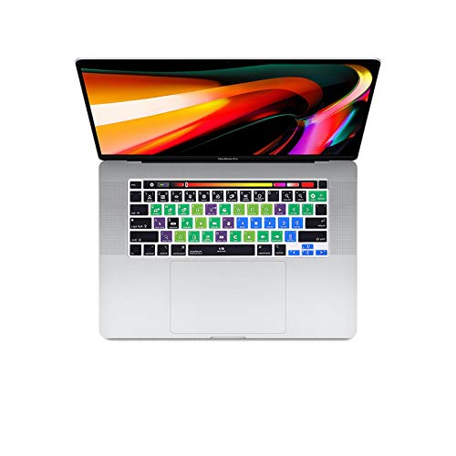 Final Cut Pro X Shortcut Hotkey Keyboard Cover Skin For MACbook Newest Pro16 inch A2141 pro 13 A2289 A2251(2020Release)-Final Cut Pro X