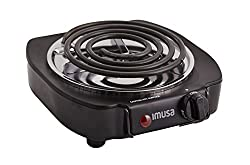 IMUSA USA GAU-80305 1100W Electric Single Burner, Black
