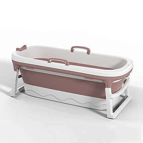Bañera para Adultos, bañera portátil, bañera de Vapor de Cubo, bañera Plegable, bañera móvil para Adultos, bañera Plegable Plegable, Sauna de la casa,Rosado