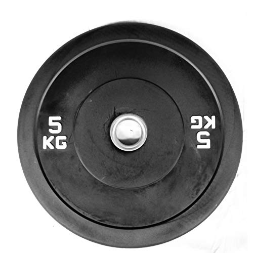 GYS FITNESS | Discos Olimpicos 5, 10, 15, 20 y 25 kg | Set de Bumper 50 mm | Disco de Goma | 2Pcs (10 KG)