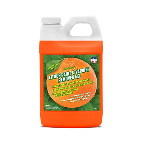 Safe 'n Easy Citrus Paint & Varnish Remover Gel, Strips 15+ Layers of Paint Safely, No Hazardous Fumes, Non-Toxic, Citrus Orange Scent (1/2 Gal)