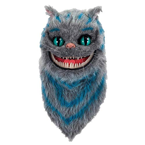 Sxgyubt Maske Grinsekatze Form Plüsch Maske Cosplay Requisite für Party Kostüm Zubehör Rollenspiel Spaß Halloween Party Dekoration