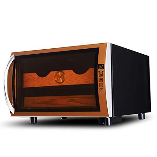 ADSE Humidor de Puros Gabinete Moderno Simple de Madera Maciza de Cedro termostático, humectante Gabinete de Puros Gabinete de Vino, 360 & deg; Sistema de refrigeración por Aire circulante