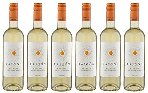6x 0,75l - 2019er - Rasgón - Macabeo - Vino de la Tierra de Castilla - Spanien - Weißwein halbtrocken