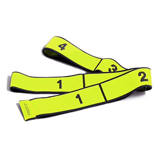 PINOFIT Stretch Band - Gymnastikband in DREI Stärken - Widerstandsband - Fitnessband - Therapieband - Stretch Loop (Yellow - Light)