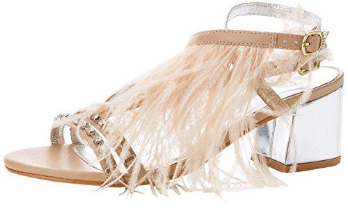 Gioseppo 45304, Zapatos de tacón con Punta Abierta Mujer, Rosa (Nude), 38 EU