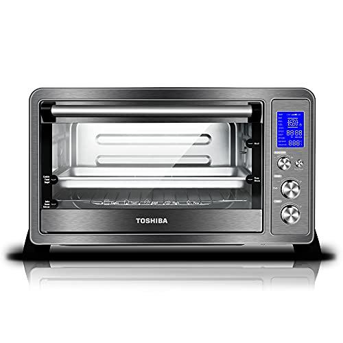Toshiba AC25CEW-BS Toaster Oven, 6-Slice...