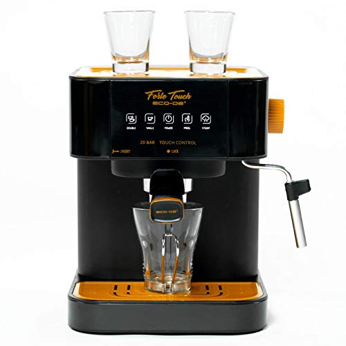 ECODE Cafetera Espresso Forte Touch, 20 Bar, Panel Táctil, Estructura INOX