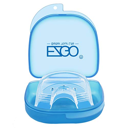 EZGO Teeth Whitening Trays Silicone Tray, Works with Tooth Whitening Light and Bleaching Gel, Comfort fot all mouth, Mouth Night Guard for Grinding Teeth, Dental Grade, Retainer Case (Silicone Tray)
