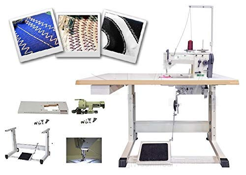 Zig Zag 20U33 Straight Reverse Sewing Machine w/servo Motor, Singer 20U Table Cut, lamp. DIY.