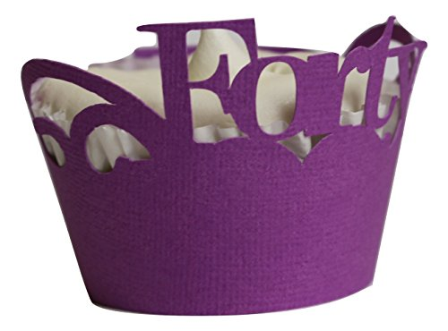 All About Details Purple Forty Cupcake Wrappers, Set of 12