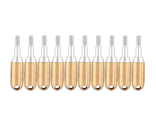 Shuny 10pcs Tiro con Arco Whistle Arrowhead,Señales de Silbato de Caza de Oro Flechas Jefes,Silbato de Cobre Puntas de Flecha para Tiro con Arco Arco Tiro de Objetivo Practicar