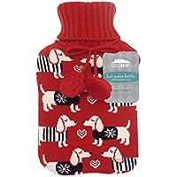 Botella de agua caliente hecha punto de moda con material de punto de primera calidad de cubierta acogedora 2L (perro)
