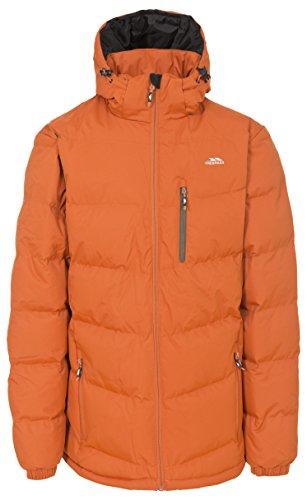 Trespass Blustery, Burnt Orange, XL, Warme Gepolsterte Wasserdichte Jacke mit abnehmbarer Kapuze für Herren, X-Large, Orange