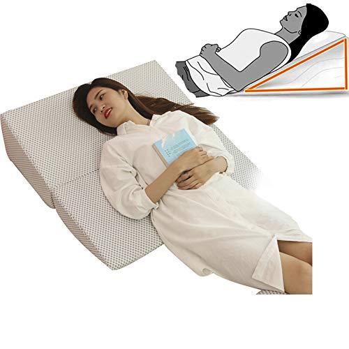 GHzzY Gedächtnisschaum Bett-Keil-Kissen - Reduzieren Sie Rückenschmerzen, sauren Reflux, Sodbrennen und Atemprobleme - Schwangerschaftskissen zum Schlafen, Lesen und Ausruhen,XL