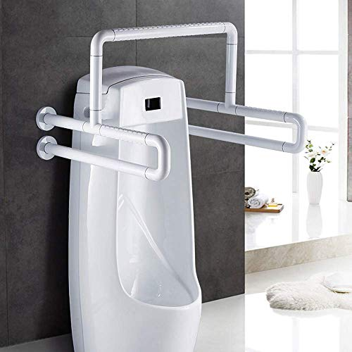 Armlehne Badezimmer-Urinal-Handlauf Edelstahl-Sicherheitshandlauf Öffentliche Toilette Behinderte Ältere Handfreier Griff Antibakterieller Anti-Rutsch-Gürtel Leuchtend