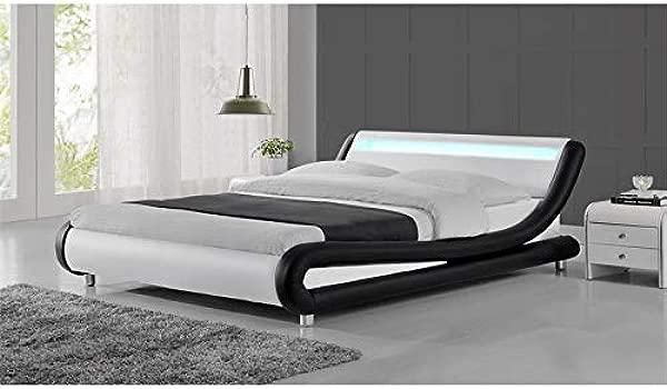 Kingway Furniture Mint Platform California King Bed In Black White
