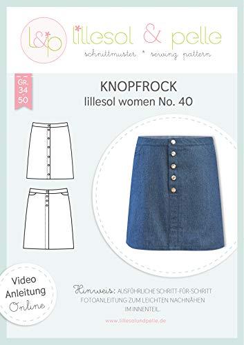 lillesol & pelle Schnittmuster lillesol Women No.40 Knopfrock in Größe 34-50 zum Nähen mit Foto-Anleitung und Video