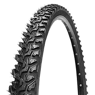 "BUCKLOS ?US Stock Mountain Bike Tire K849, Tough Wire Bead Bicycle Tire Clincher Trail MTB Tyre Puncture Resistant High Grip 24x1.95/26x1.95in AM XC Cross-Country (K849-26x1.95"")"