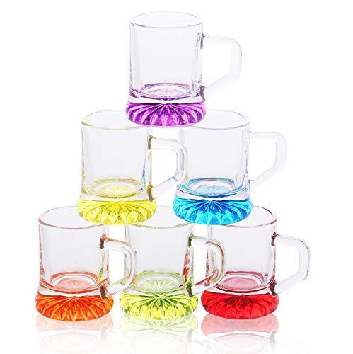 Bicchieri da shot con manico set 2cl 6 pezzi bicchieri da shot party bicchieri da festa in vetro bicchieri da shot mini boccale di birra pin pin birra bicchieri da liquore