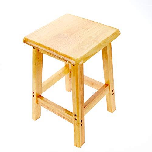 Hocker Holzhocker Haushalt quadratischen Esszimmermöbel Lernbank Bank Freizeit Eichenholz Dressing Massivholz, 50cm