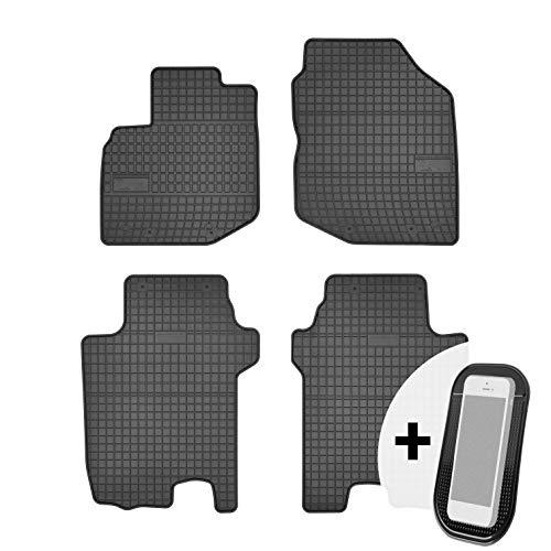 moto-MOLTICO Gummimatten Auto Fußmatten Gummi Automatten Passgenau 4-teilig Set - passend für Honda Jazz 3 III GE 2008-2013