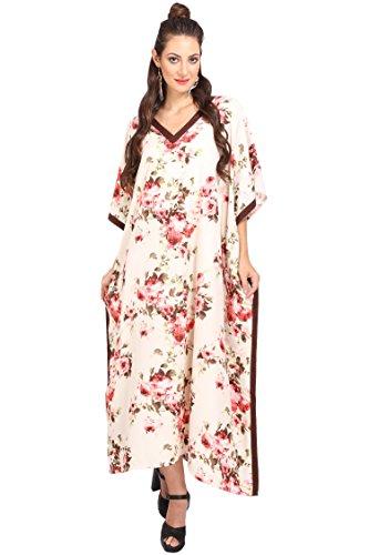 Miss Lavish London - Kimono para mujer, diseño de kaftan, estilo maxi - - 38-44