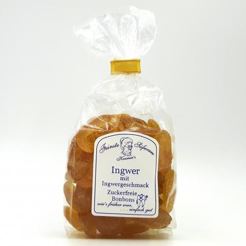 Zuckerfreie Ingwer-Bonbons, 120g