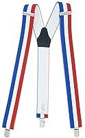 Les bretelles France ont une longueur de bracelet d'environ 110 cm et conviennent aux personnes mesurant de 165 cm à 200 cm. 3 clips solides. Fini les pantalons qui glissent ! Les clips ont des inserts en plastique intégrés afin que votre pantalon ne...