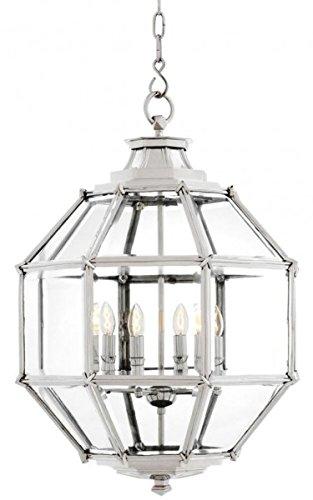 Casa Padrino Luxus Laterne - Luxus Nickel Hängeleuchte Durchmesser