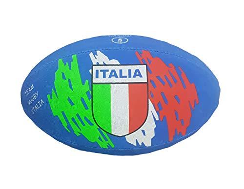 BrolloGroup Palla Rugby Italia Blu in Gomma Pallone Misura 5 PS 36604