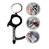 Black Lives Matter No Touch Key Tool 1 Pack Bottle Opener 3-IN-1 Safe Door Opener Tool, Keychain Hook Ring Included, Multipurpose Key Pad Tool for Touchscreens, Elevators Button Pusher, Home, Outdoors