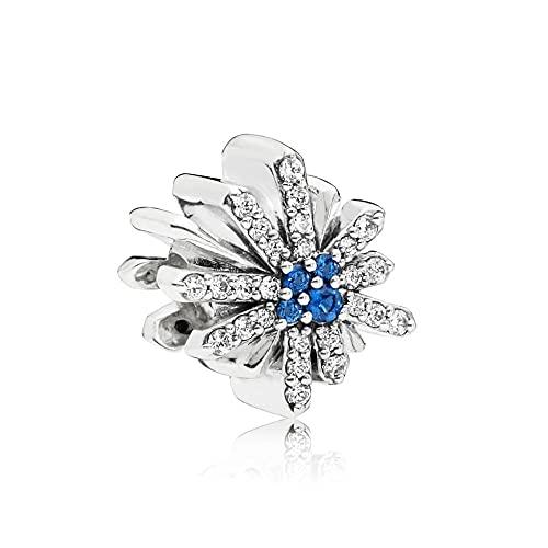 Pandora 925 cuentas de plata esterlina deslumbrante encanto de fuegos artificiales apto para mujeres de moda Bangle diy amor joyería