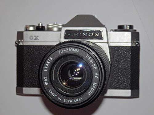Cámara réflex Camera Chinon CX – SLR – Incluye PHOTOBLITZ EXAKTA - Objetivo (70-210 mm, 1:4.5-5.6 MC Macro, diámetro de 52)