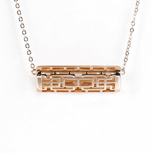 NEO+ Edelstahl Halskette Anhänger für Fitbit Flex 2 (HORIZONTAL Rose Gold)
