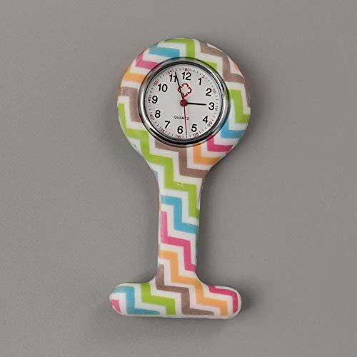 B/H Mujeres Cuarzo Colgante médico Relojes,Reloj de Enfermera, Reloj de Inodoro de Bolsillo Redondo, para Lindas colegialas-Vino Rojo