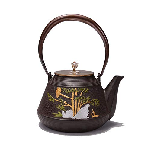 YzDnF Durevole Ferro Teapot Contentezza Changraku Iron Kettle Imitates Sud del Giappone Healthy Old Iron Kettle Ghisa Teiera Bollitore (Color : Cast Iron, Size : 1200ml)