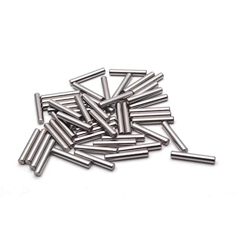 Antrader Dowel Pins 304 Stainless Steel Cylindrical Pin Locating Pin, 4 mm by 25 mm, 50PCS