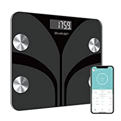 """【Changing Starts from Knowing】 11 Health indicators provide accurate data for weight, BMI, Body fat rate, Visceral fat, body water, skeletal muscle rate, Muscle mass, bone mass, Protein, BMR, Body age. 【Recording and Sharing in APP】 Download """"Fitdays..."""