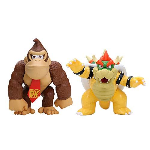 Mario Juguetes 2 unids Super Mario Bros PVC Figura de Acción Modelo de Juguete Donkey Kong Koopa Bowser Luigi Mario Yoshi Figura Muñeca Juguetes para Niños Niños