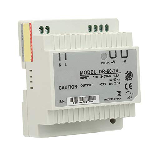 Entrada estable DR-60-24 Fuente de alimentación de conmutación de carril DIN antiinterferente resistente de salida monofásica para equipos de iluminación