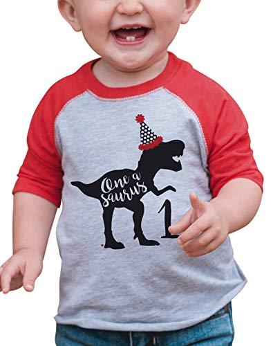 7 ate 9 Apparel Babys Dinosaur One Birthday Red 12 Months