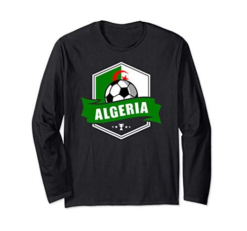 Algeria Trikot Fussball Fanartikel Geschenk 2020 2021 Langarmshirt