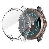 Für Fossil Damen Smartwatch FTW6022 Hülle, Colorful Ultradünne Tasche Schutzhülle Transparent Klare Weiche TPU Silikon Bumper Case Cover [Kratzfest] [Shock Absorption] (Klar)