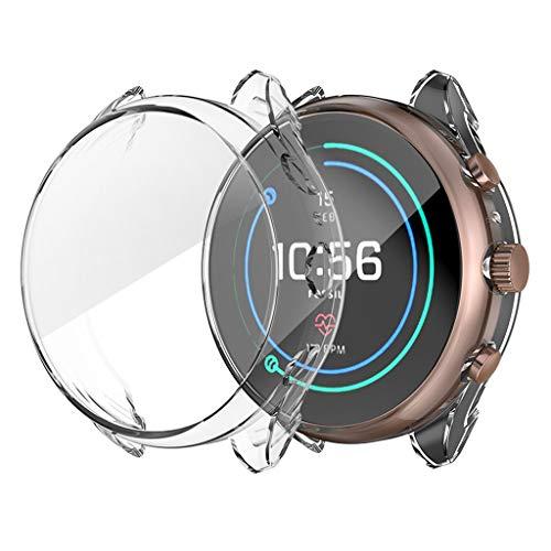 Für Fossil Damen Smartwatch FTW6022 Hülle, Colorful Superdünne Tasche Schutzhülle Transparent Klare Weiche TPU Silikon Bumper Hülle Cover [Kratzfest] [Shock Absorption] (Klar)